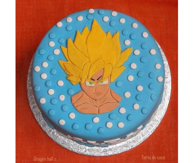 Tarta de coco (Dragón ball z Goku)